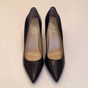 Marc Fisher Jubalen Black Leather Heels